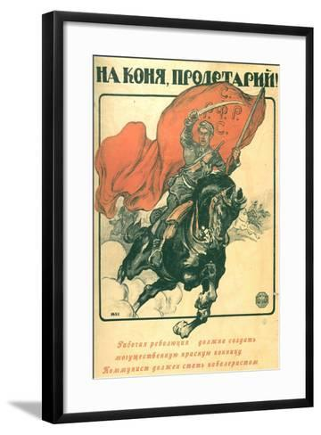 To Horse, Proletarian!, 1918-Alexander Petrovich Apsit-Framed Art Print