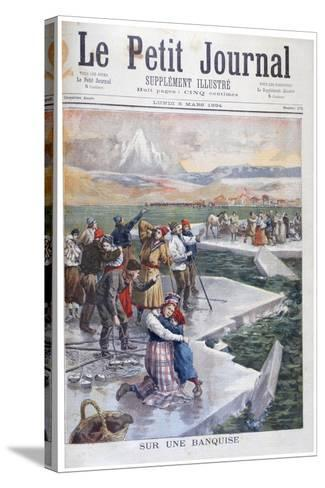 People Stranded on Ice Floes, Finland, 1894--Stretched Canvas Print