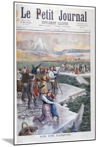 People Stranded on Ice Floes, Finland, 1894--Mounted Giclee Print