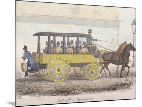 Post Office Accelerator with Passengers, Holborn, London, C1830-JR Burfoot-Mounted Giclee Print