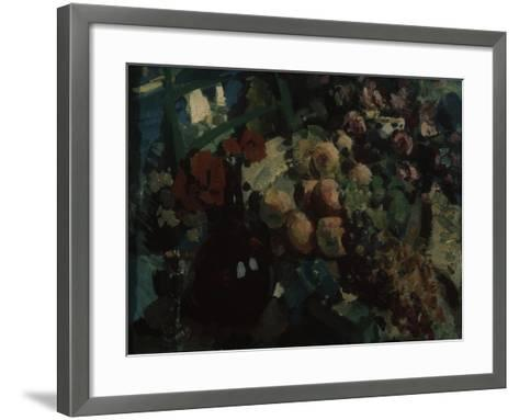 Still Life. Vine and Fruits, 1917-Konstantin Alexeyevich Korovin-Framed Art Print