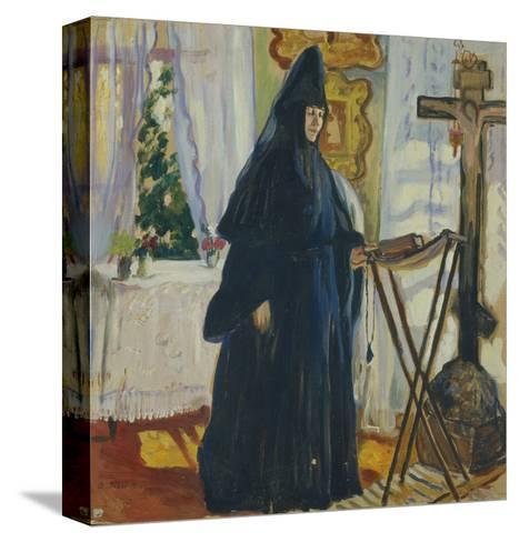 At the Monastic Cell. Prayer, 1915-Olga Ludvigovna Della-Vos-Kardovskaya-Stretched Canvas Print