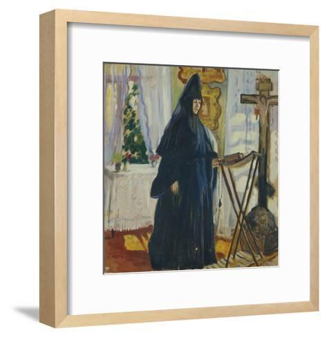 At the Monastic Cell. Prayer, 1915-Olga Ludvigovna Della-Vos-Kardovskaya-Framed Art Print