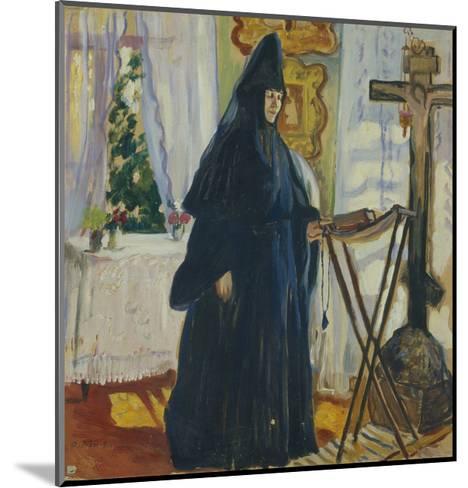 At the Monastic Cell. Prayer, 1915-Olga Ludvigovna Della-Vos-Kardovskaya-Mounted Giclee Print