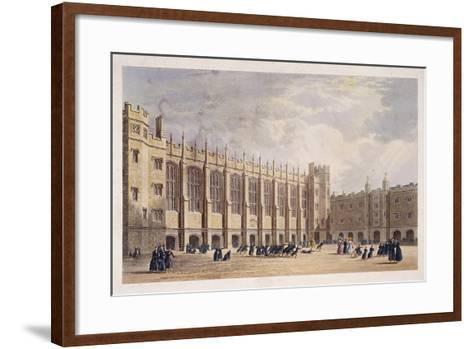Christ's Hospital, London, C1825--Framed Art Print