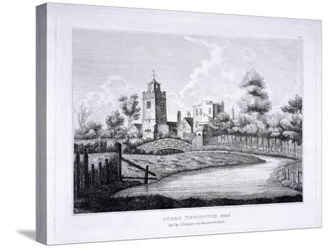 St Mary, Stoke Newington, London, C1810--Stretched Canvas Print