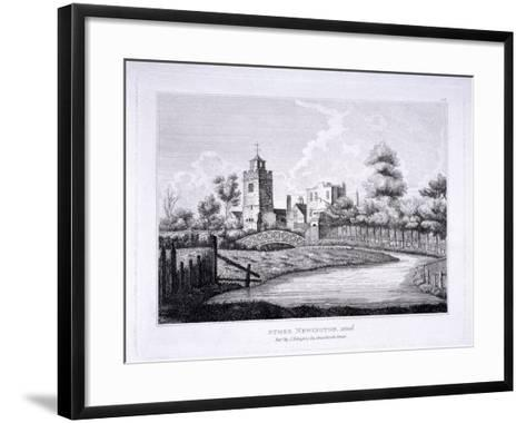 St Mary, Stoke Newington, London, C1810--Framed Art Print
