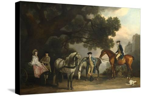The Milbanke and Melbourne Families, Ca 1769-George Stubbs-Stretched Canvas Print