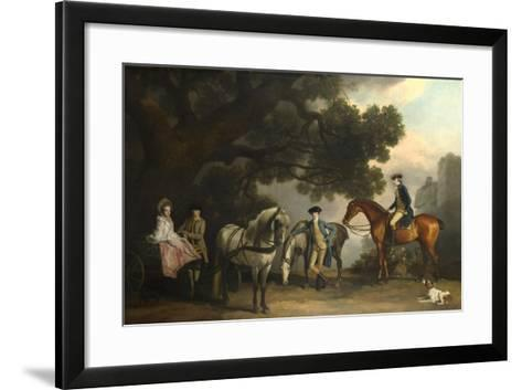 The Milbanke and Melbourne Families, Ca 1769-George Stubbs-Framed Art Print