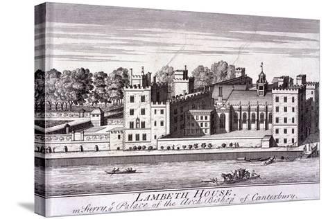 Lambeth Palace, London, C1720--Stretched Canvas Print