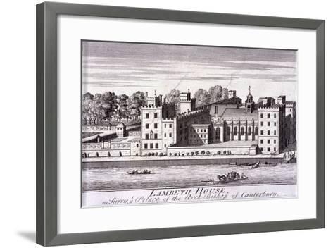 Lambeth Palace, London, C1720--Framed Art Print
