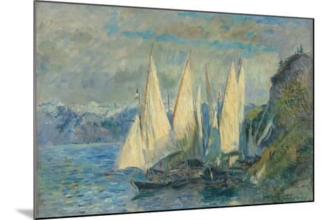 Barques Aux Grandes Voiles Sur Le Lac L?man ? Meillerie En Haute-Savoie-Albert Lebourg-Mounted Giclee Print