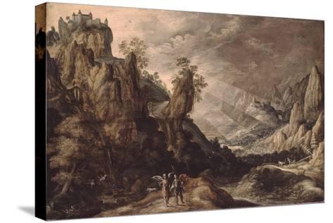 Landscape with Tobias and the Angel-Kerstiaen de Keuninck-Stretched Canvas Print