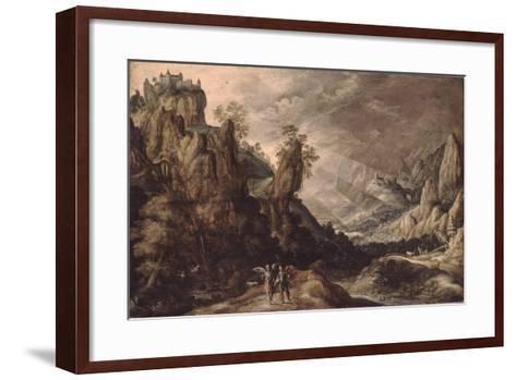 Landscape with Tobias and the Angel-Kerstiaen de Keuninck-Framed Art Print