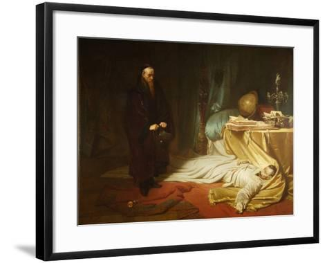 Seni at the Dead Body of Wallenstein, 1855-Carl Theodor von Piloty-Framed Art Print