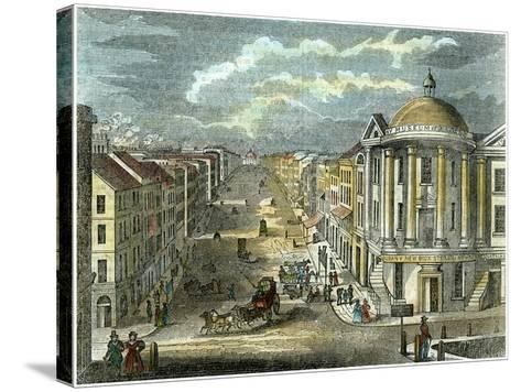 State Street, Albany, New York, USA, C1835--Stretched Canvas Print