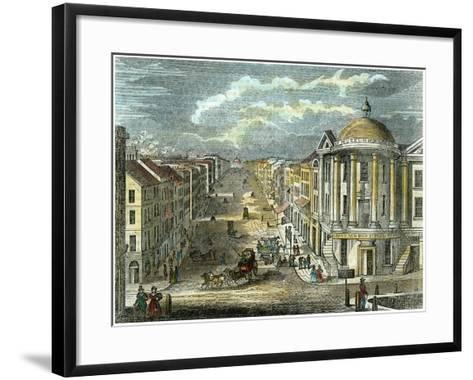 State Street, Albany, New York, USA, C1835--Framed Art Print