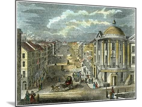 State Street, Albany, New York, USA, C1835--Mounted Giclee Print