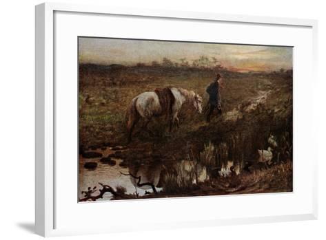 The Cast Shoe, 1865-George Heming Mason-Framed Art Print
