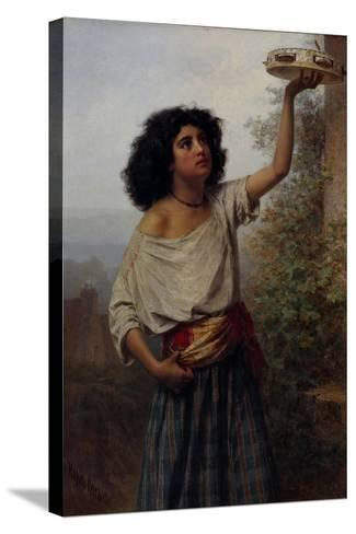 Young Gipsy Woman, 1870-Karl Fyodorovich Gun-Stretched Canvas Print