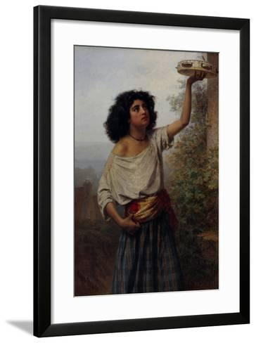 Young Gipsy Woman, 1870-Karl Fyodorovich Gun-Framed Art Print