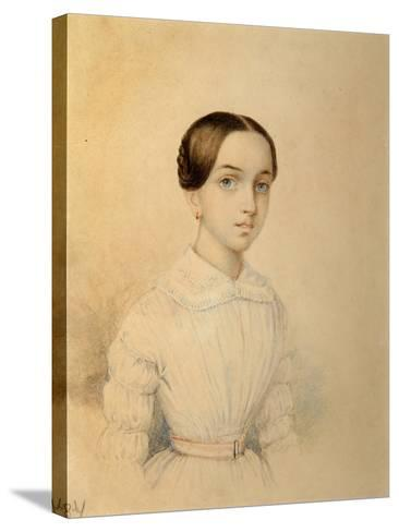 Portrait of O.A. Rehbinder--Stretched Canvas Print