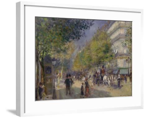 The Grands Boulevards, 1875-Pierre-Auguste Renoir-Framed Art Print