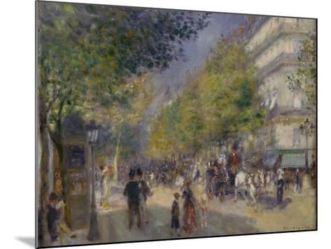 The Grands Boulevards, 1875-Pierre-Auguste Renoir-Mounted Giclee Print