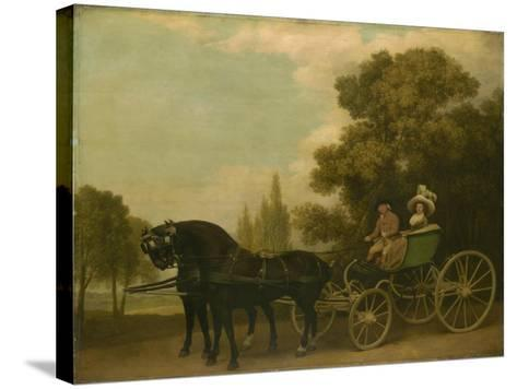 A Gentleman Driving a Lady in a Phaeton, 1787-George Stubbs-Stretched Canvas Print