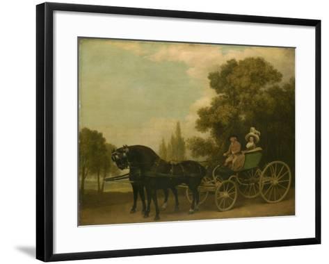 A Gentleman Driving a Lady in a Phaeton, 1787-George Stubbs-Framed Art Print