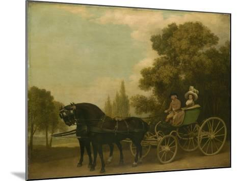 A Gentleman Driving a Lady in a Phaeton, 1787-George Stubbs-Mounted Giclee Print