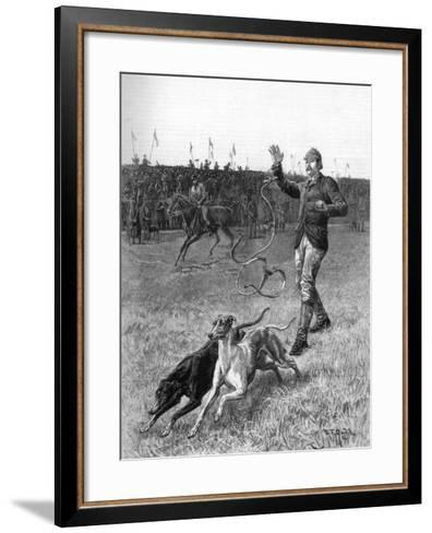 Coursing: Slipping the Greyhounds, 1887-Stephen T Dadd-Framed Art Print