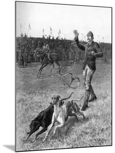 Coursing: Slipping the Greyhounds, 1887-Stephen T Dadd-Mounted Giclee Print