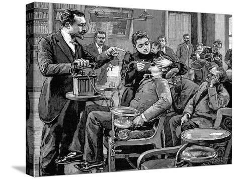 Clinic at the School of Dentistry, Paris, 1892--Stretched Canvas Print