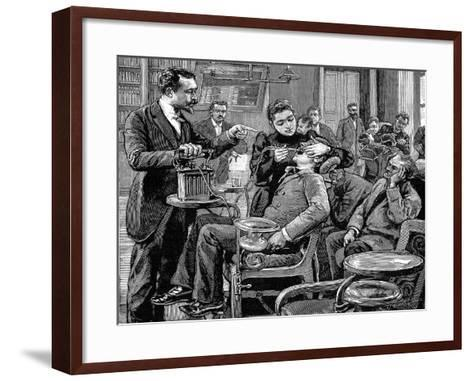Clinic at the School of Dentistry, Paris, 1892--Framed Art Print