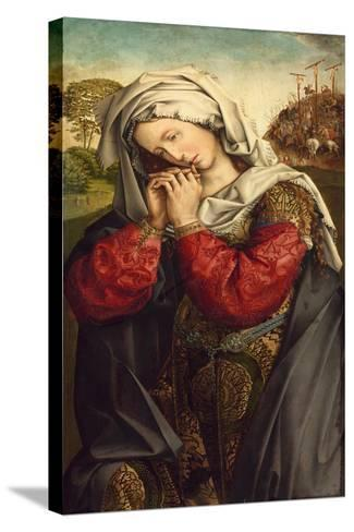 The Mourning Mary Magdalene, C. 1500-Colijn de Coter-Stretched Canvas Print