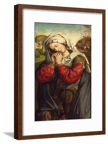 The Mourning Mary Magdalene, C. 1500-Colijn de Coter-Framed Art Print