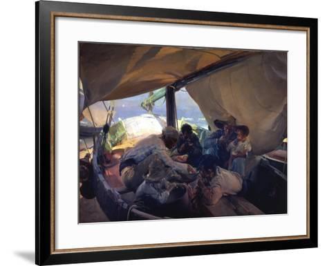 Lunch on the Boat-Joaqu?n Sorolla y Bastida-Framed Art Print