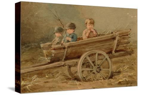Children in a Telega, 1882-Elizaveta Merkuryevna Bem-Stretched Canvas Print