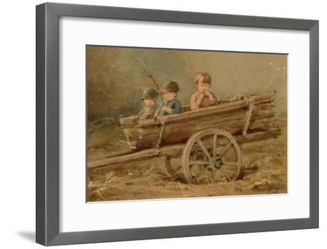 Children in a Telega, 1882-Elizaveta Merkuryevna Bem-Framed Art Print