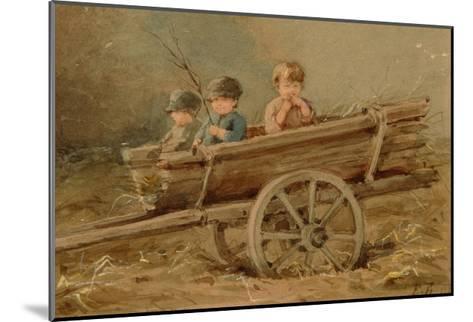 Children in a Telega, 1882-Elizaveta Merkuryevna Bem-Mounted Giclee Print