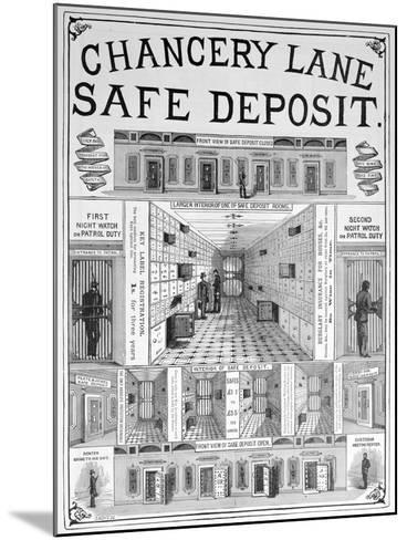 Chancery Lane Safe Deposit Facility, 1893--Mounted Giclee Print