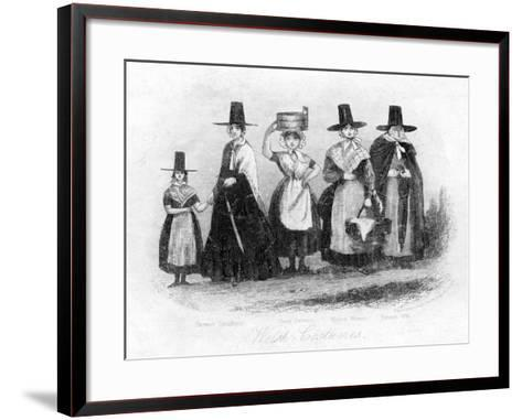Traditional Welsh Costume, 19th Century- Newman & Co-Framed Art Print