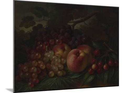 Peaches, Grapes and Cherries, Ca 1860-1870-George Henry Hall-Mounted Giclee Print