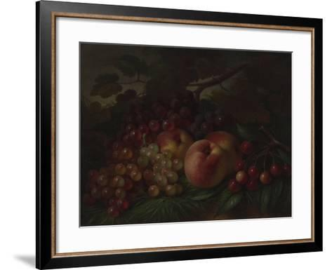 Peaches, Grapes and Cherries, Ca 1860-1870-George Henry Hall-Framed Art Print