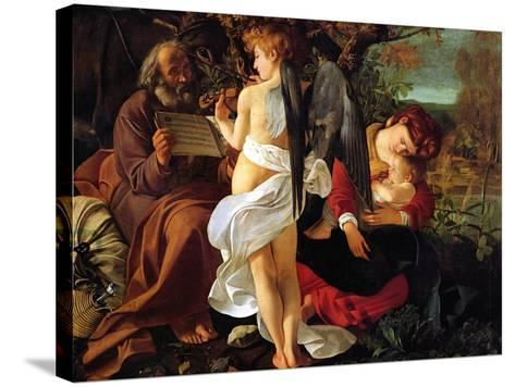 Rest on the Flight into Egypt, Ca. 1597-Caravaggio-Stretched Canvas Print