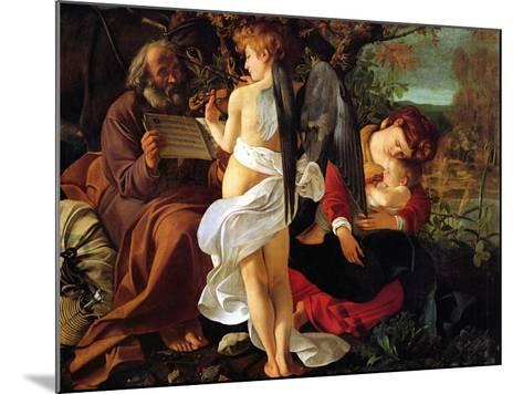 Rest on the Flight into Egypt, Ca. 1597-Caravaggio-Mounted Giclee Print