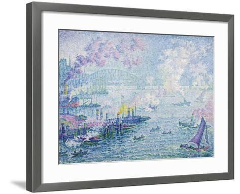 The Port of Rotterdam, 1907-Paul Signac-Framed Art Print