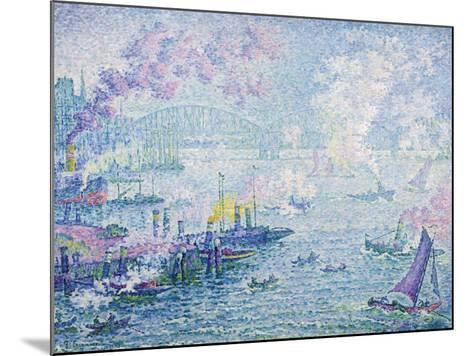 The Port of Rotterdam, 1907-Paul Signac-Mounted Giclee Print