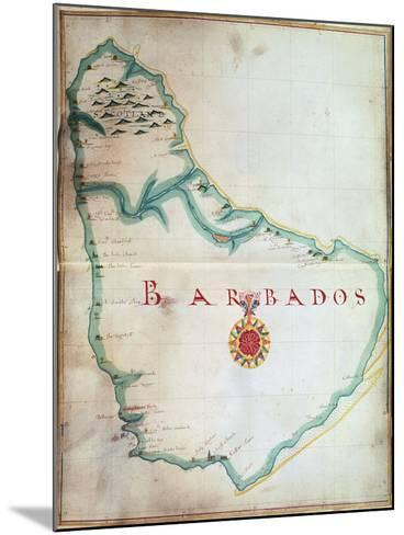 Map of Barbados, 1683--Mounted Giclee Print